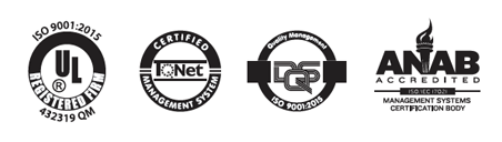 Certificaciones ISO 9001, DS-UL, ANAB